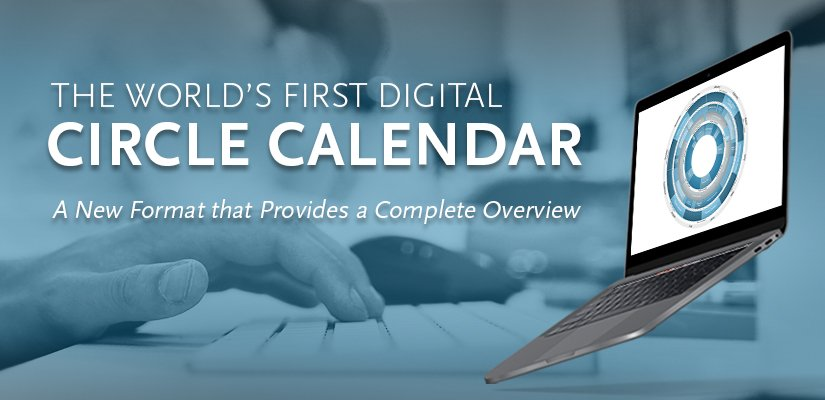 The world's first digital circle calendar - Now it is possible to combine your calendardisc, calendar and site