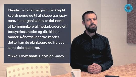 Mikkel fra DecisionCaddy fortæller om mødeplanlægning og årshjulet.