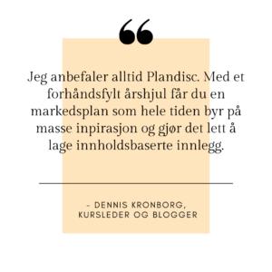 Dennis Kronborg sitat Plandisc