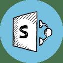 Sharepoint blue logo Plandisc