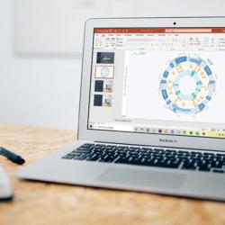 Vis et interaktivt årshjul i PowerPoint. Imponér dine kollegaer med en præsentation, der skaber overblik over fremtidsplaner